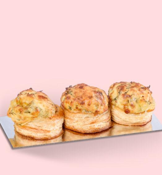 Vol-au-vent brânză și mărar